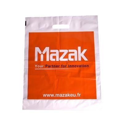 Picture of POLYTHENE PLASTIC CARRIER BAG in White