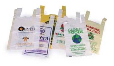 Picture of HDPE VEST SUPERMARKET CARRIER BAG in White