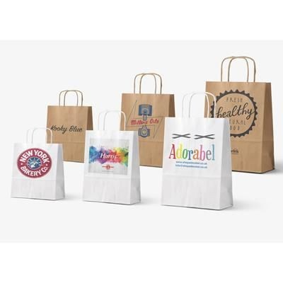 Picture of TWISTED HANDLE KRAFT PAPER BAG