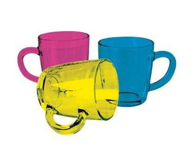 Picture of COLOUR COAT GLASS MUG