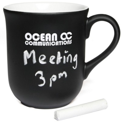 Picture of BELL CHALK MUG in White with Black Coating