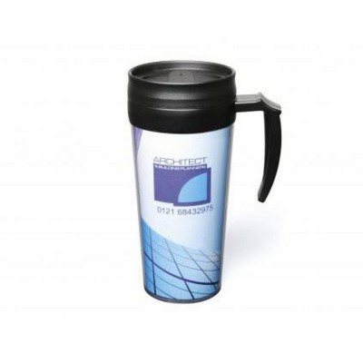 Picture of SUMATRA PLASTIC TRAVEL MUG in Black
