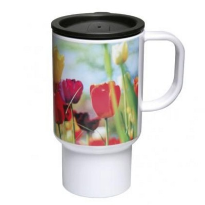 Picture of COLUMBIAN ACRYLIC TRAVEL MUG in White