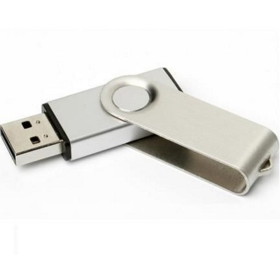 Picture of TWISTER 2 USB MEMORY STICK in Silver