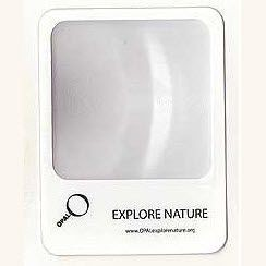 Picture of PORTRAIT CREDIT CARD SIZE WINDOW MAGNIFIER LENS in Translucent Clear Transparent