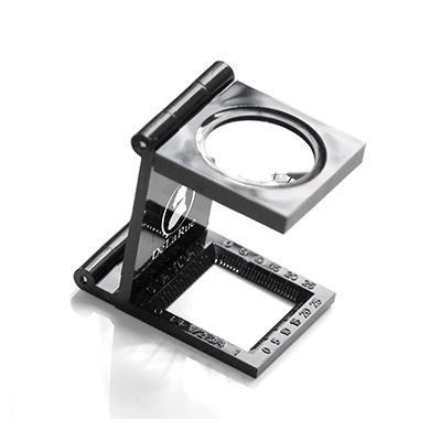 Picture of PLASTIC LINEN TESTER MAGNIFIER in Black