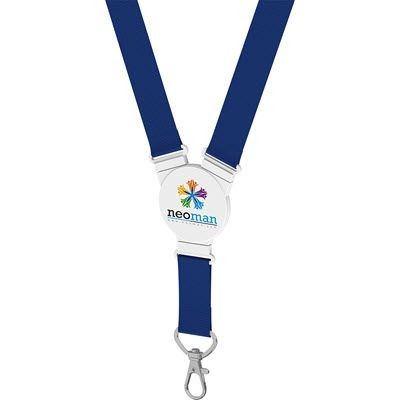 Picture of ELLIPTICAL SNAP LANYARD in Blue