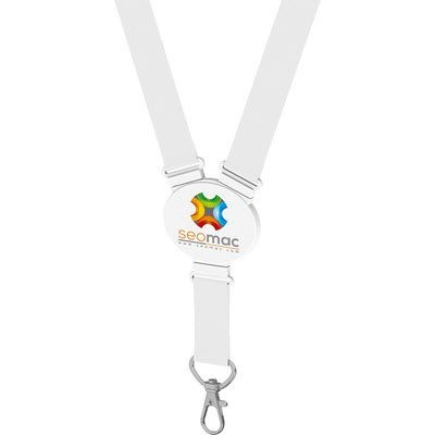 Picture of ELLIPTICAL SNAP LANYARD in White