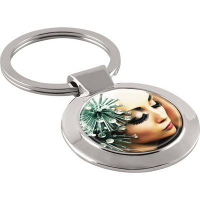 Picture of MINERVA KEYRING in Silver Chrome