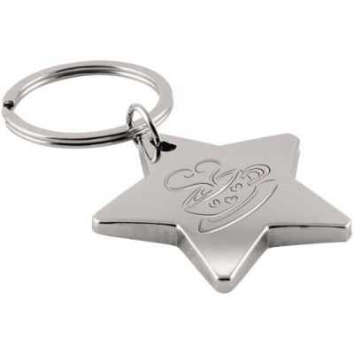 Picture of STAR SHAPE KEYRING in Silver