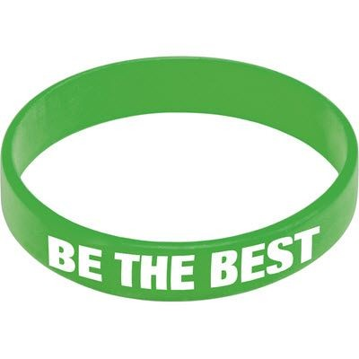 Picture of SILICON WRIST BAND in Mid Green