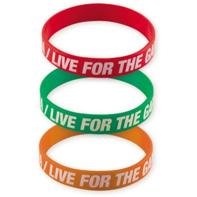 Picture of PRINTED SILICON WRIST BAND in Rainbow