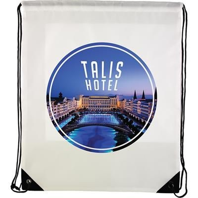 Picture of VERVE DRAWSTRING BAG in White
