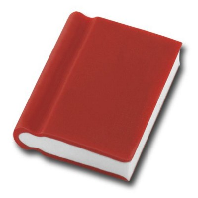 Picture of BOOK SHAPE ERASER in Red