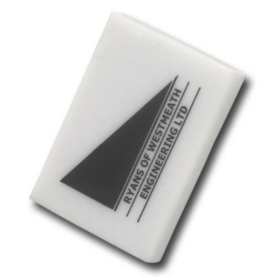 Picture of COLOURFUL RECTANGULAR ERASER in White