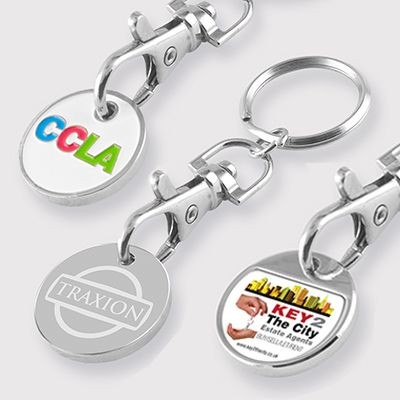 Picture of FULL COLOUR DIGITAL DECAL TROLLEY COIN KEYRING