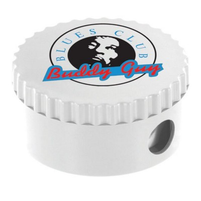 Picture of ROUND PENCIL SHARPENER in White
