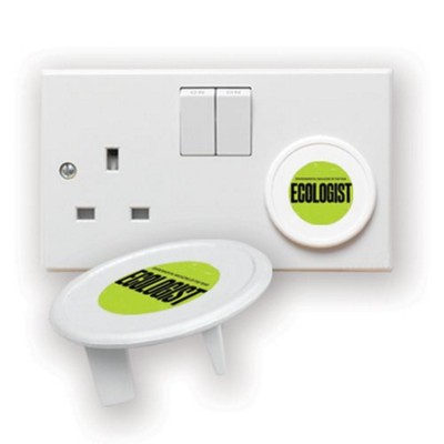 Picture of RECYCLED PLUG SOCKET PROTECTOR in White