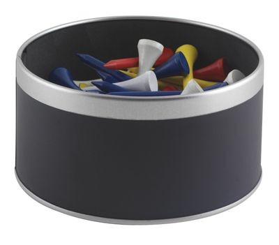 Picture of WEXFORD GOLF TEE TIN in Black with Silver Trim