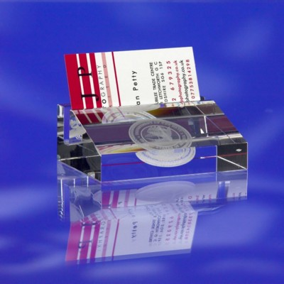 Picture of GLASS BUSINESS CARD HOLDER