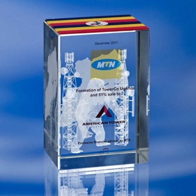 Picture of BEVELLED RECTANGULAR COLOUR GLASS BLOCK