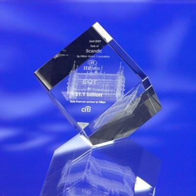 Picture of CUT CORNER GLASS CUBE