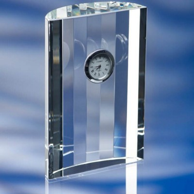 Picture of GLASS CRESCENT CLOCK
