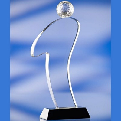 Picture of SILHOUETTE GOLF GLASS AWARD TROPHY