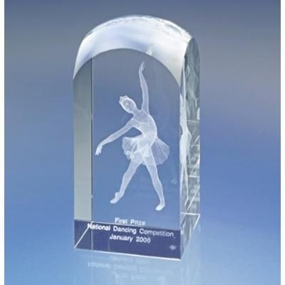 CLEAR TRANSPARENT CRYSTAL TOWER AWARD TROPHY