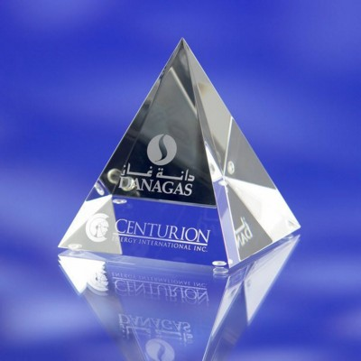 Picture of PYRAMID GLASS AWARD TROPHY