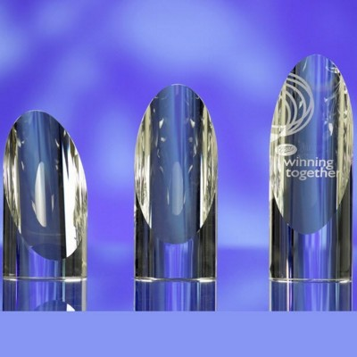 Picture of CUT CYLINDER GLASS AWARD TROPHY