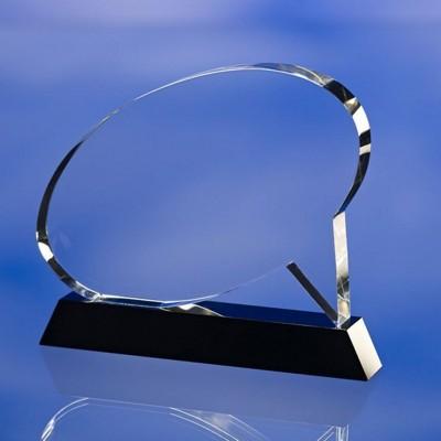 SPEECH AWARD TROPHY  with Black Glass Base