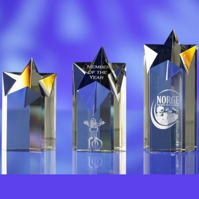 Picture of CRYSTAL STAR 1 AWARD TROPHY