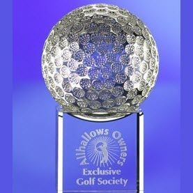 Picture of GOLF BALL ON BASE GLASS AWARD TROPHY