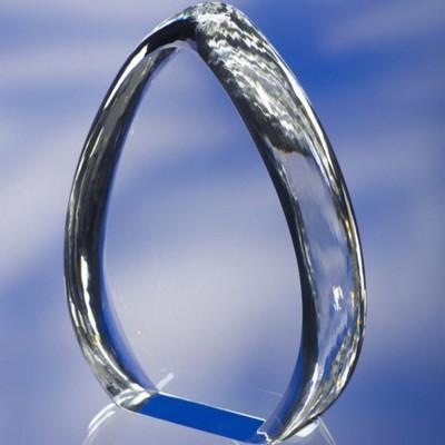 MOUNTAIN AWARD TROPHY  in Optical Glass
