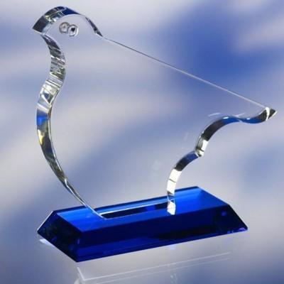 BIRD SHAPE OPTICAL GLASS AWARD TROPHY