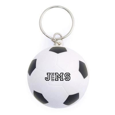 Picture of FOOTBALL STRESS KEYRING in Black-white