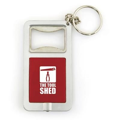 Picture of SOFIA BOTTLE OPENER KEYRING in Red