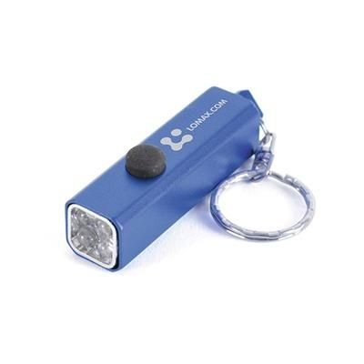 Picture of CUBOID TORCH KEYRING in Blue