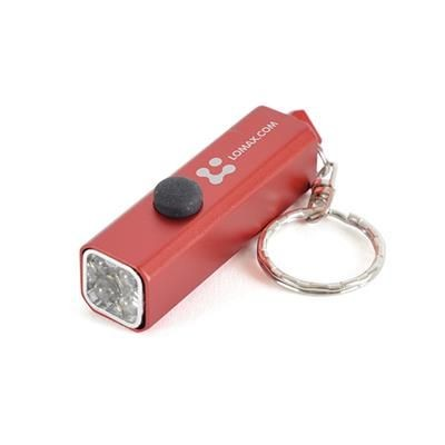 Picture of CUBOID TORCH KEYRING in Red