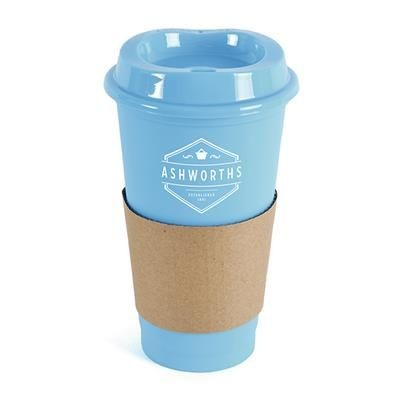 Picture of CAFÉ TAKE OUT MUG in Cyan