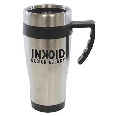 Picture of OREGON STAINLESS STEEL METAL TRAVE MUG in Black