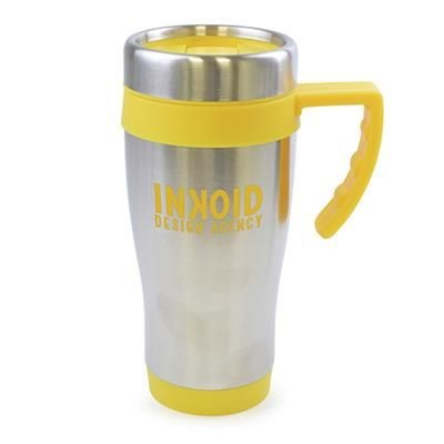 Picture of OREGON STAINLESS STEEL METAL TRAVE MUG in Yellow