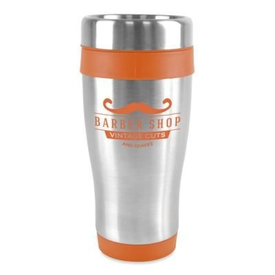 Picture of ANCOATS STAINLESS STEEL METAL TUMBLER with Amber Trim