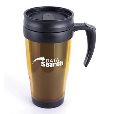 Picture of MARCO PLASTIC TRAVEL MUG in Amber