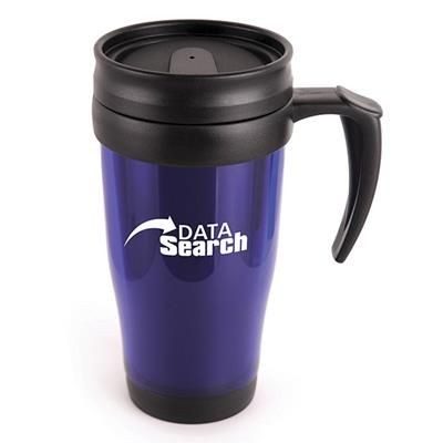 Picture of MARCO PLASTIC TRAVEL MUG in Blue