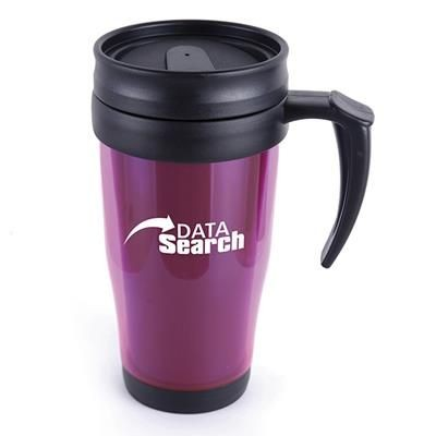 Picture of MARCO PLASTIC TRAVEL MUG in Pink