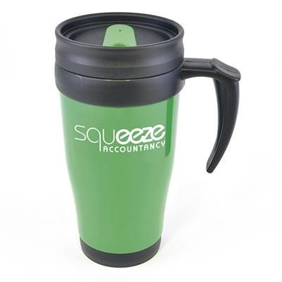 Picture of POLO PLUS PLASTIC TRAVEL MUG in Dark Green