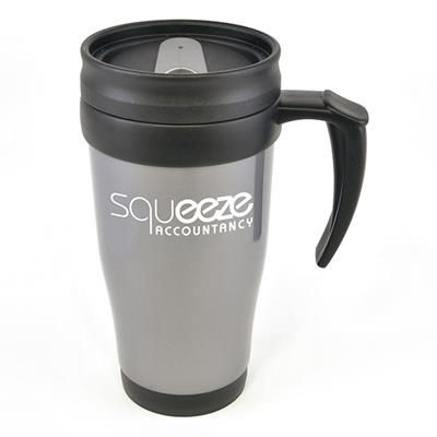 Picture of POLO PLUS PLASTIC TRAVEL MUG in Grey
