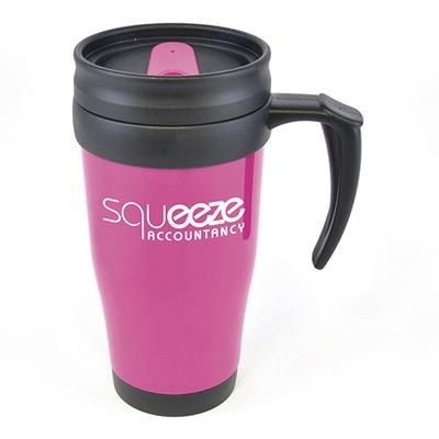 Picture of POLO PLUS PLASTIC TRAVEL MUG in Pink